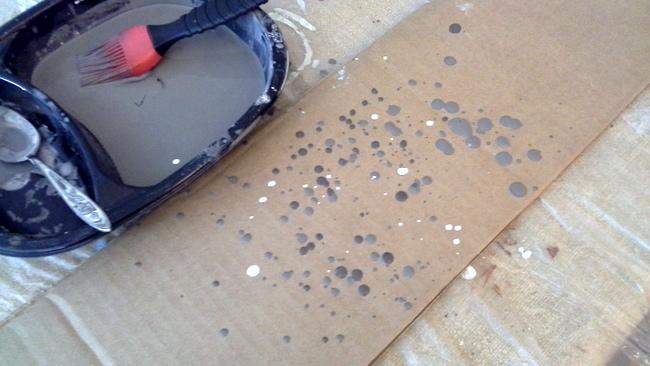 how to make speckled-egg textured mason jars-StowandTellU