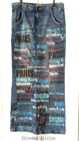 upcyled blue jean travel hanging door organizer-stowandtellu