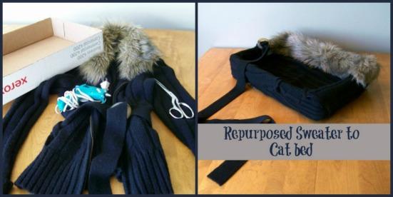 repurposed-sweater-to-cat-bed-StowandTellU