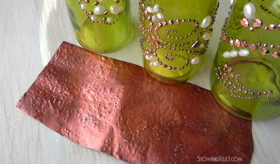 how-to-make-faux-hammered-copper-with-soda-cans
