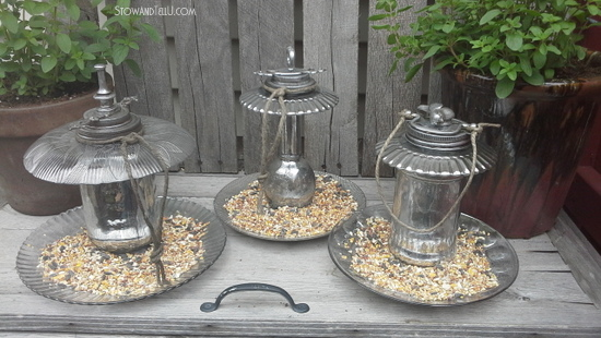 ornamental-faux-mercury-glass-bird-feeders