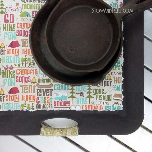 Camping-themed-decoupaged-tray