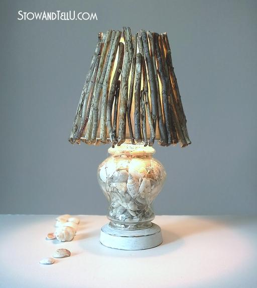 How To Make Twig Lamp Shade Www.stowandtellu.