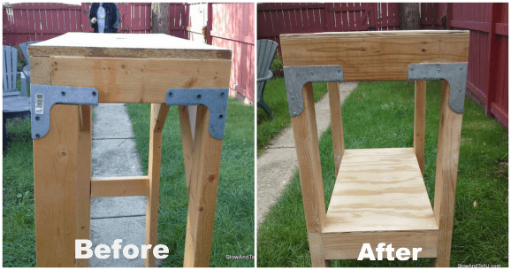 Salvaged-table-before-after