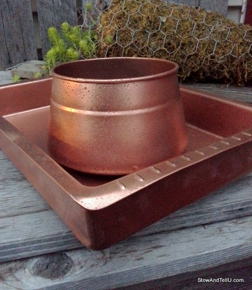 Easy-faux-hammered-copper-paint-technique, StowAndTellU.com