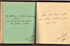hand-written autograph