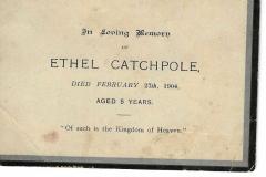memorial card from 1904