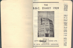 front page of 1939 diary