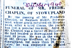 press cutting of funeral