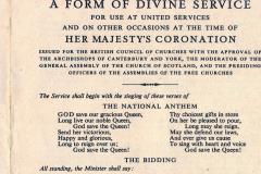 church-service leaflet