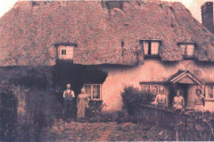 photo of thatched house