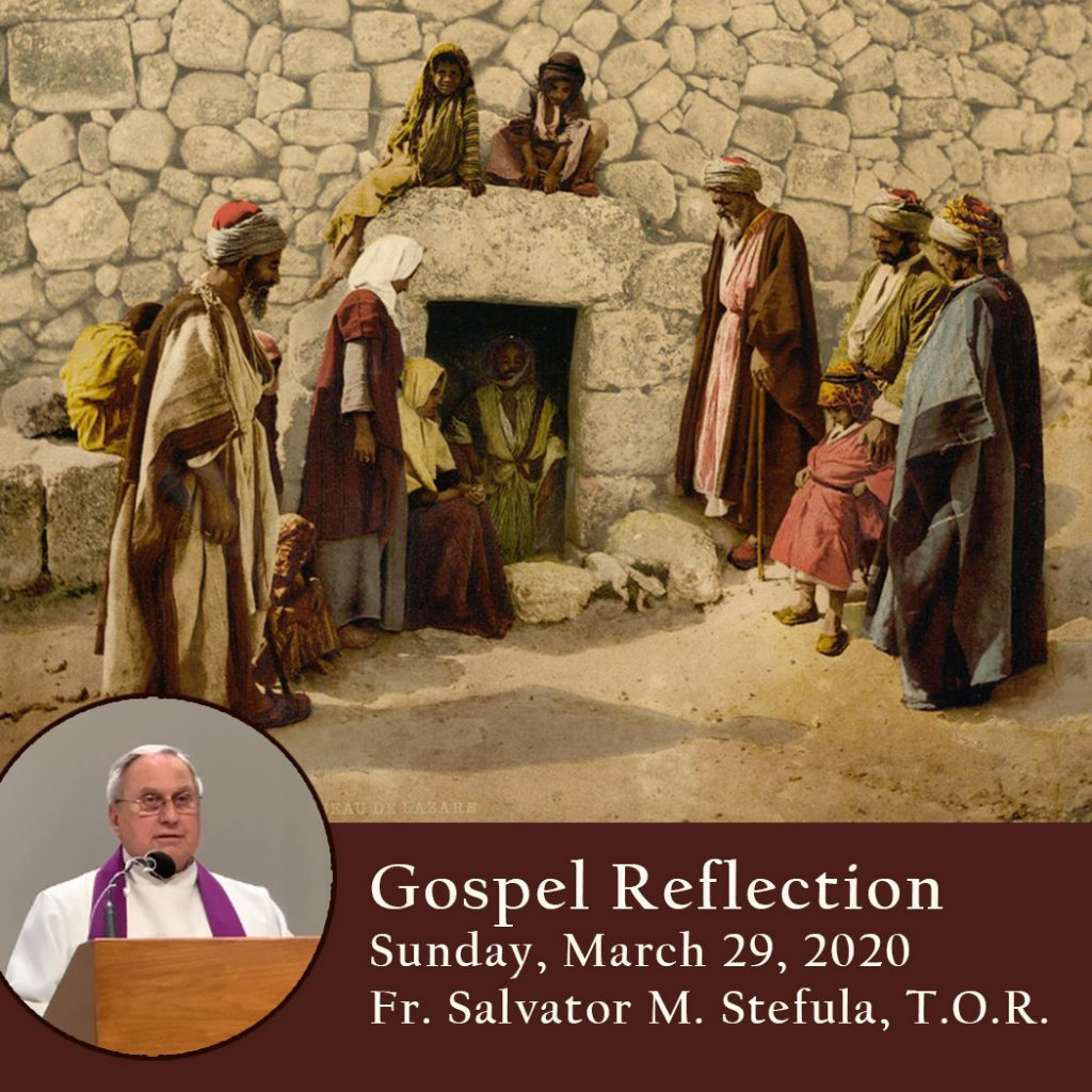 Gospel Reflection 5th Sunday Of Lent March 29