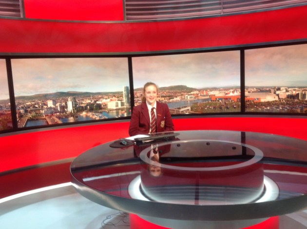Lauren at the news desk