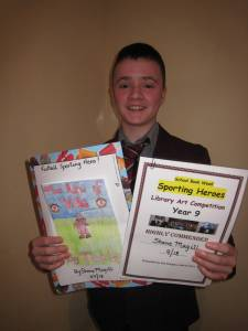 Shane Magill was Highly Commended for his Book Cover Design