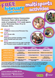 Free Multi Sports Activities february half term 2018