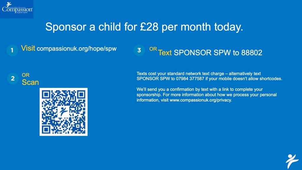 Compassion sponsorship slide 1