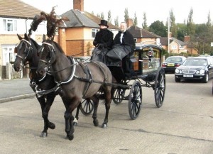 Photo: The hearse leaves for Gilroes
