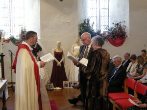 Photo: Renewing the marriage vows in church