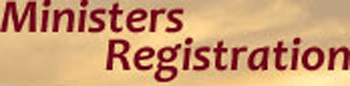Ministers' registration
