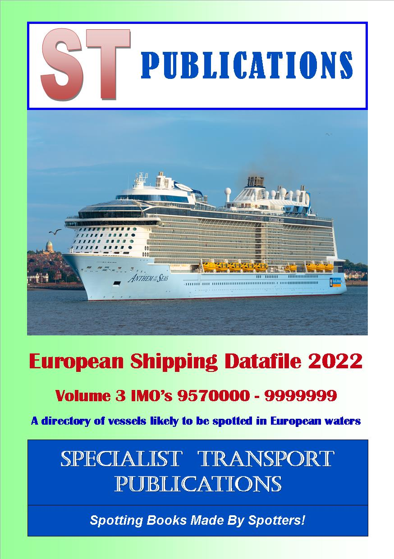 Specialist Transport Publications  European Shipping Fleet 2019 Volume 3 IMOs 9500000  9869999