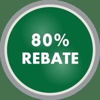 80% rebate