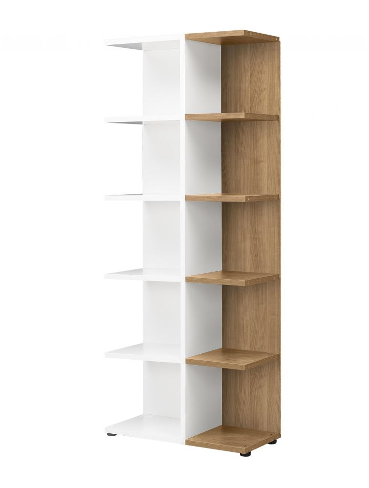 bibliotheque blanc bois