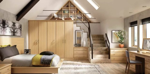 Fitted English Oak Modern Bedroom Furniture | Strachan
