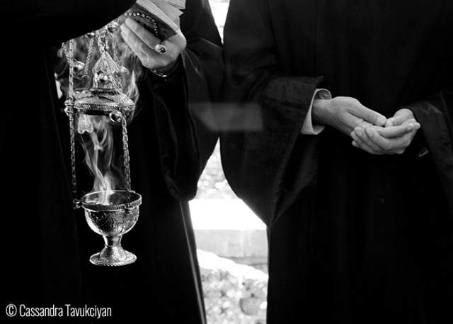 Cassandra Tavukciyan Priests during a ceremony at Echmiadzin, Vagharshapat.