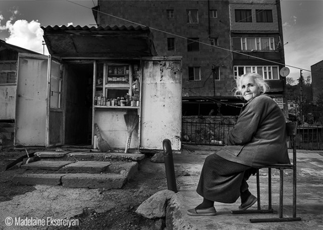 © Madelaine Ekserciyan (Buenos Aires, Argentina). Dilijan Lady – Dilijan – These lady was waiting in complete peace while she was waiting for the customers.