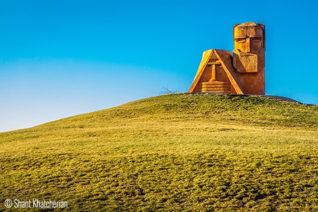 Shant Khatcherian (Laval/Quebec. Canada). We Are Our Mountains – Nagorno Karabagh – A sculpture by Sargis Baghdasaryan