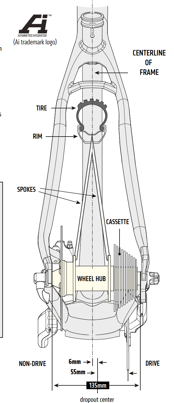 Cannondale Ai (Asymmetric Integration) rear wheel