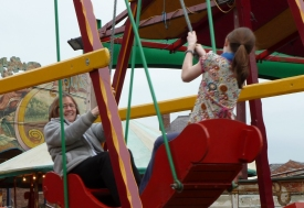 Penny and Emma Swinging