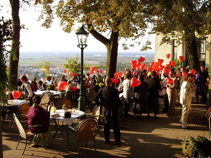 Restaurant  Terrasse  Burggasthof Strahlenburg Schriesheim