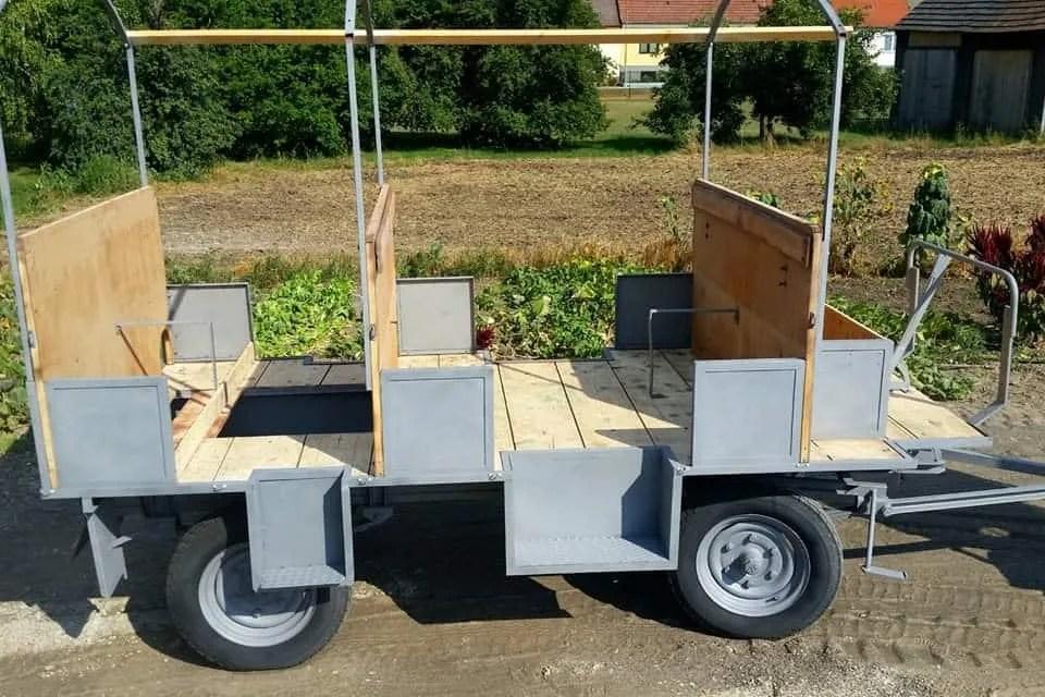 Sandstrahlen Traktor-Anhänger