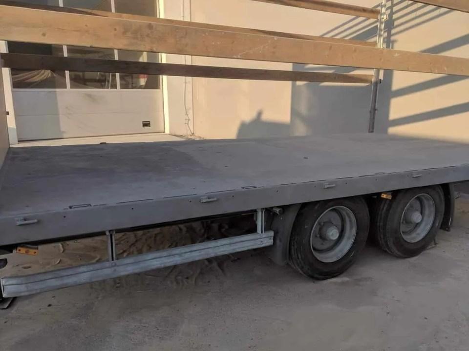 LKW-Anhänger Sandstrahlen