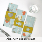 cut out napkin rings