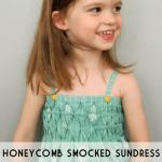 honeycomb smocked sundress