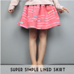 super simple lined skirt