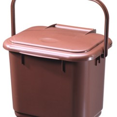 Kitchen Caddy Miami Cabinets Solid Ideal For Collecting Food Waste A Five Litre In Brown