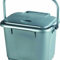 Kitchen Caddy Ceramic Cabinet Knobs Solid Ideal For Collecting Food Waste 5 Litre Silver