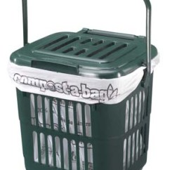 Kitchen Caddy Countertops Options Vented For Use With Compost A Bag 7 Litre Compostable Liner