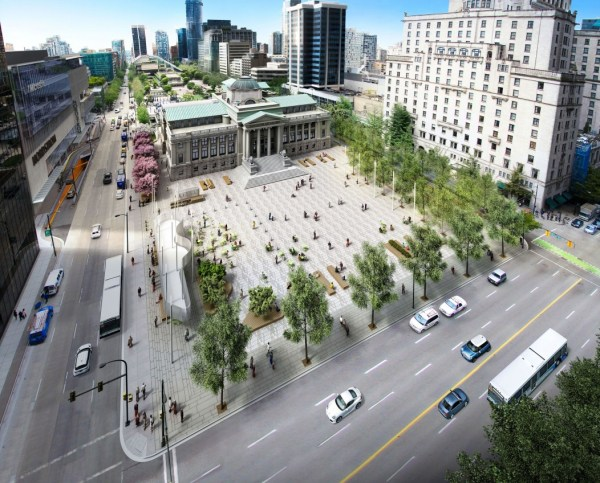 City Unveils Design Open North Plaza Of