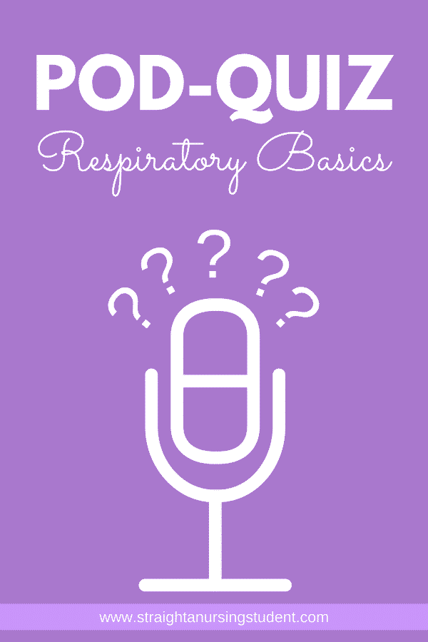 Audio quiz on respiratory basics...what an awesome way to study!