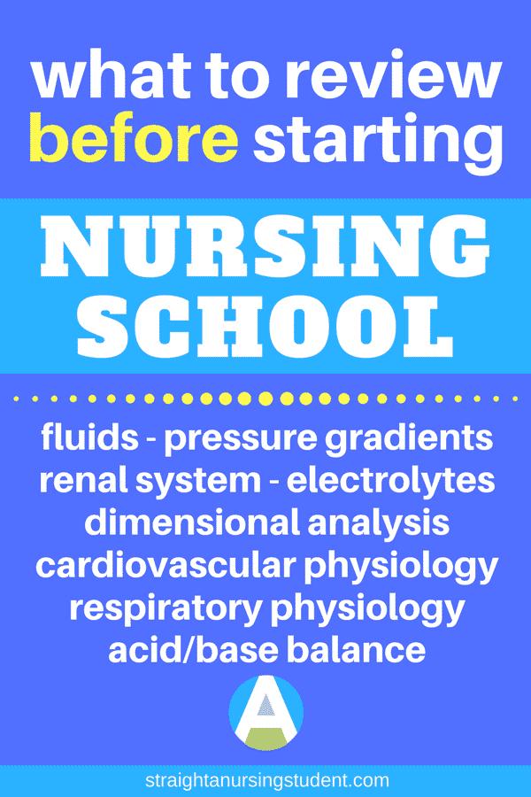 review before nursing school