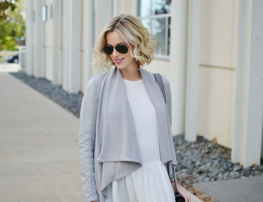 grey-drape-jacket-white-peplum-blouse