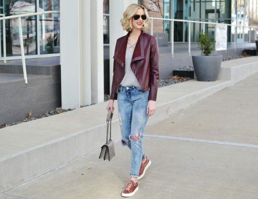 burgundy jacket Insta