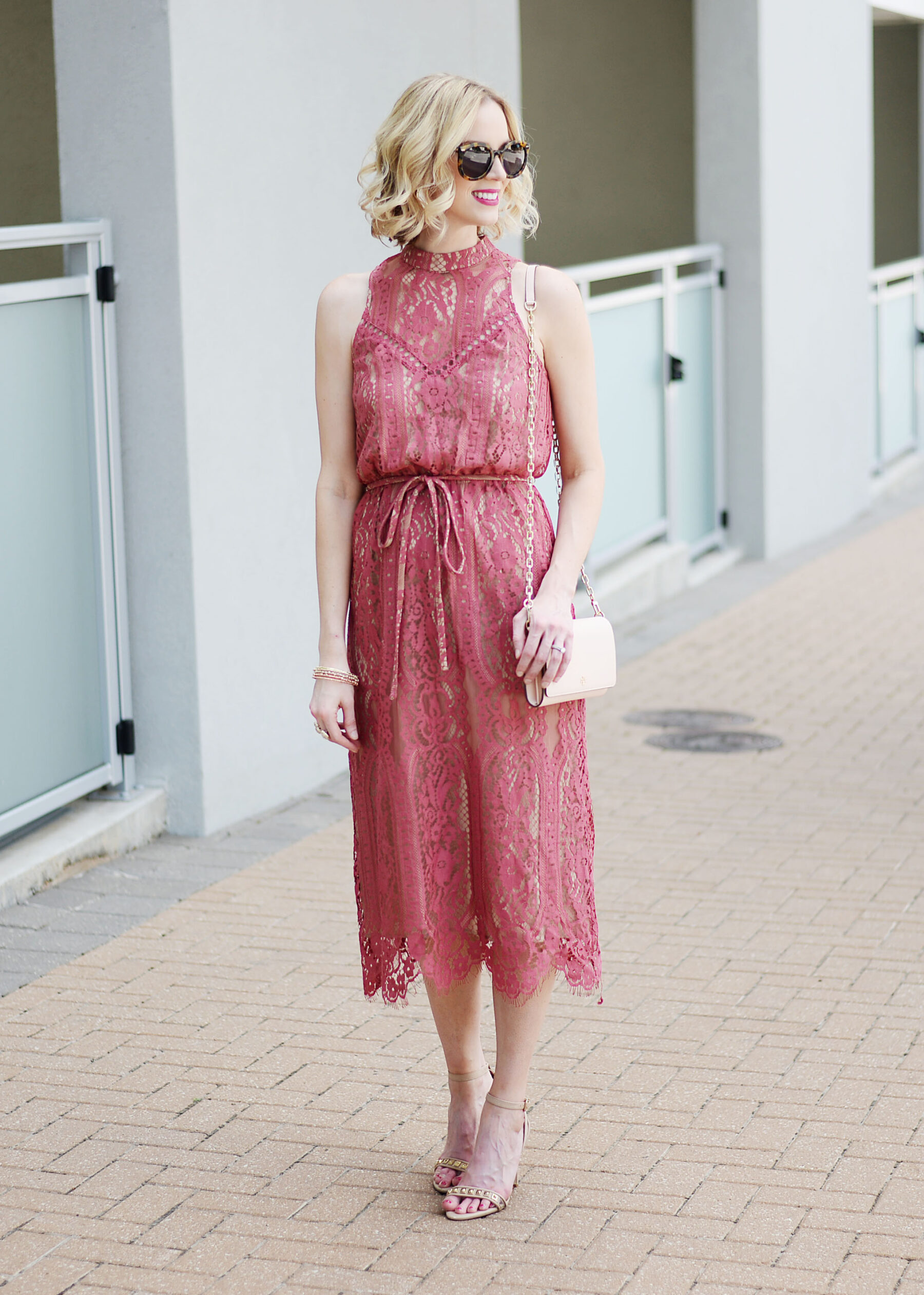 064137bd29f4 Why You Need A Berry Colored Lace Midi Dress - Straight A Style