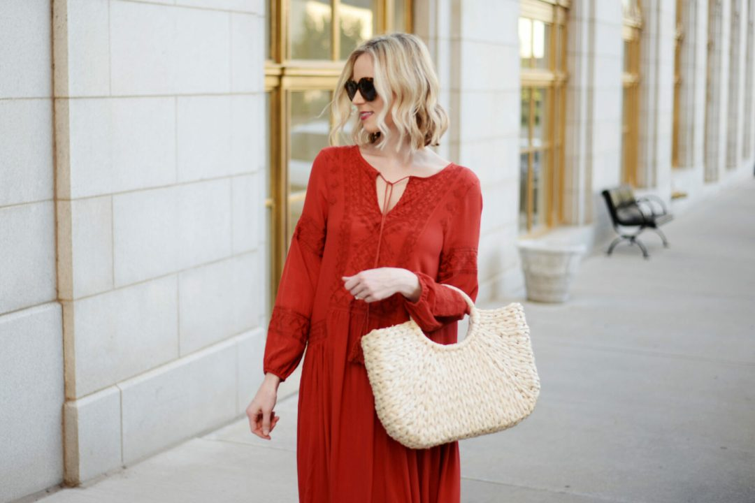 a95743bd7f494 This boho red maxi dress is everything I ever wanted in a dress:  flattering, easy to wear, a statement piece, and (best of all) comfy.