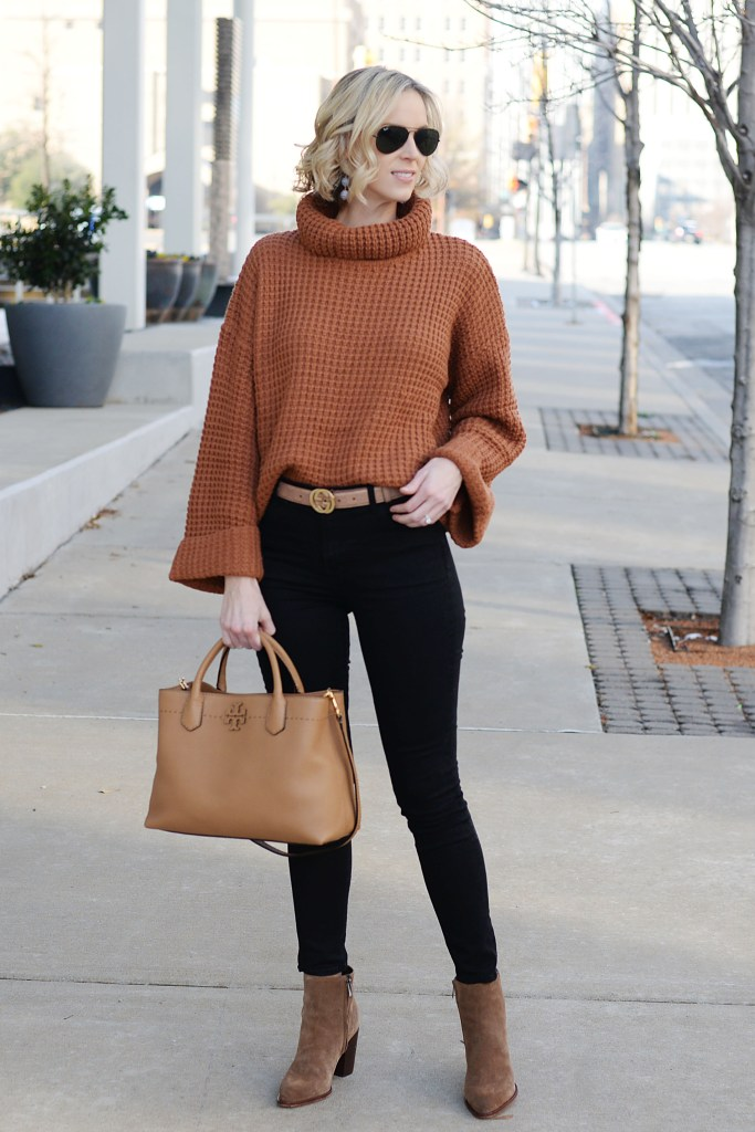 the coziest waffle knit sweater