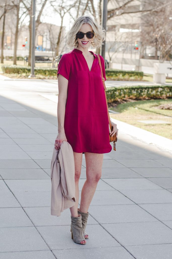versatile shift dress for spring